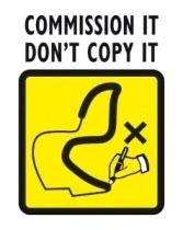 Commission It Don't Copy It