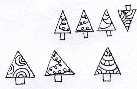 Advent Doodle Christmas Trees