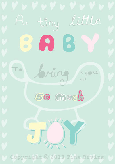 Hallmark New Baby Competition - Baby Typography