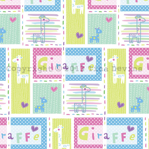 Sweet Baby Giraffes pattern by Dreaming on a Star