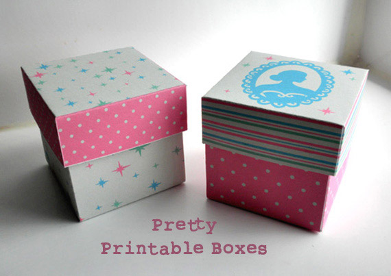 New etsy printable shop french fairytale pretty gift boxes negle Images