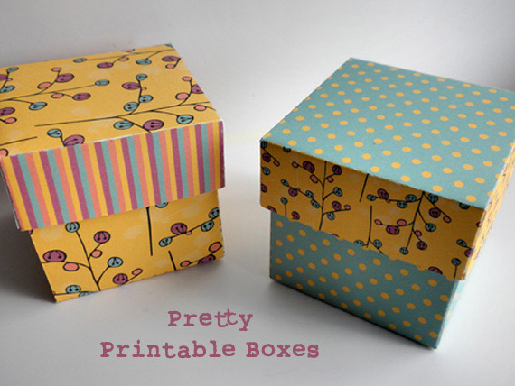Plum Design-Pretty-Gift-Boxes & New Etsy Printable Shop! - Aboutintivar.Com