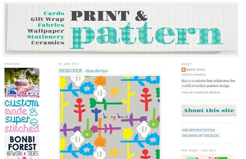 Print & Pattern Blog Feature