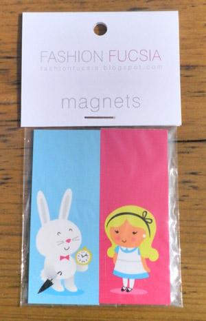 Fashion Fucsia Magnets