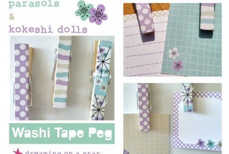 Dreaming on a Star - Washi Tape Peg Tutorial
