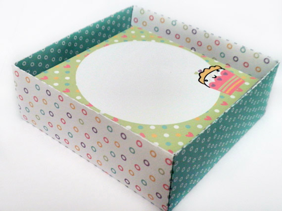 Dreaming on a Star - Kawaii Cupcakes Notelets & Box