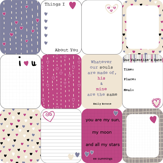 Valentines Love Journal Cards by Dreaming on a Star