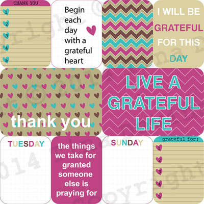 Gratitude Digital Journal Cards by Dreaming on a Star