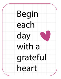 Dreaming on a Star - Begin each day with a grateful heart - Journal Cards