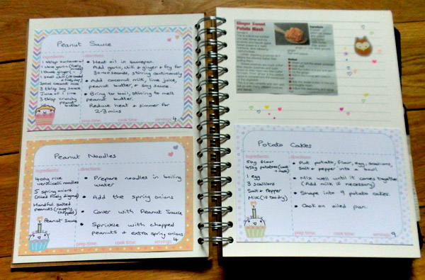 Recipe Cards And Book Recipe Book With Dreaming on a