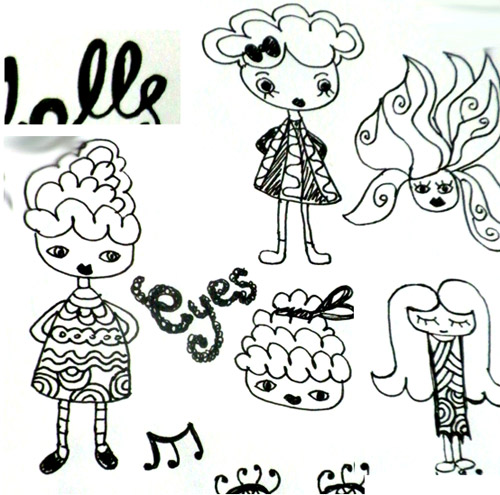 Dolly Doodles by Dreaming on a Star