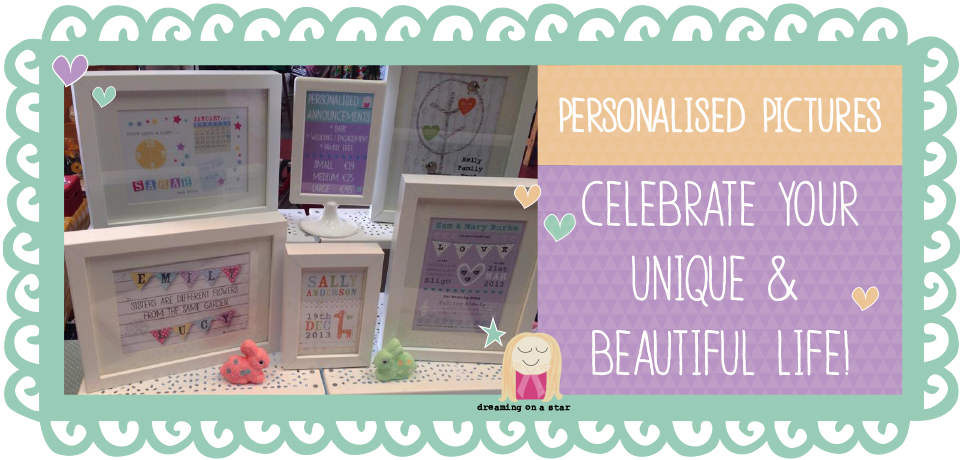Personalised Prints by Dreaming on a Star