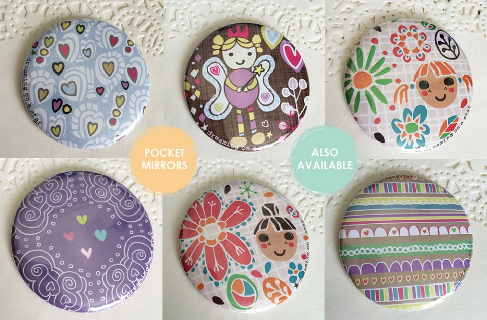 Lovely Pocket Mirrors by Dreaming on a Star