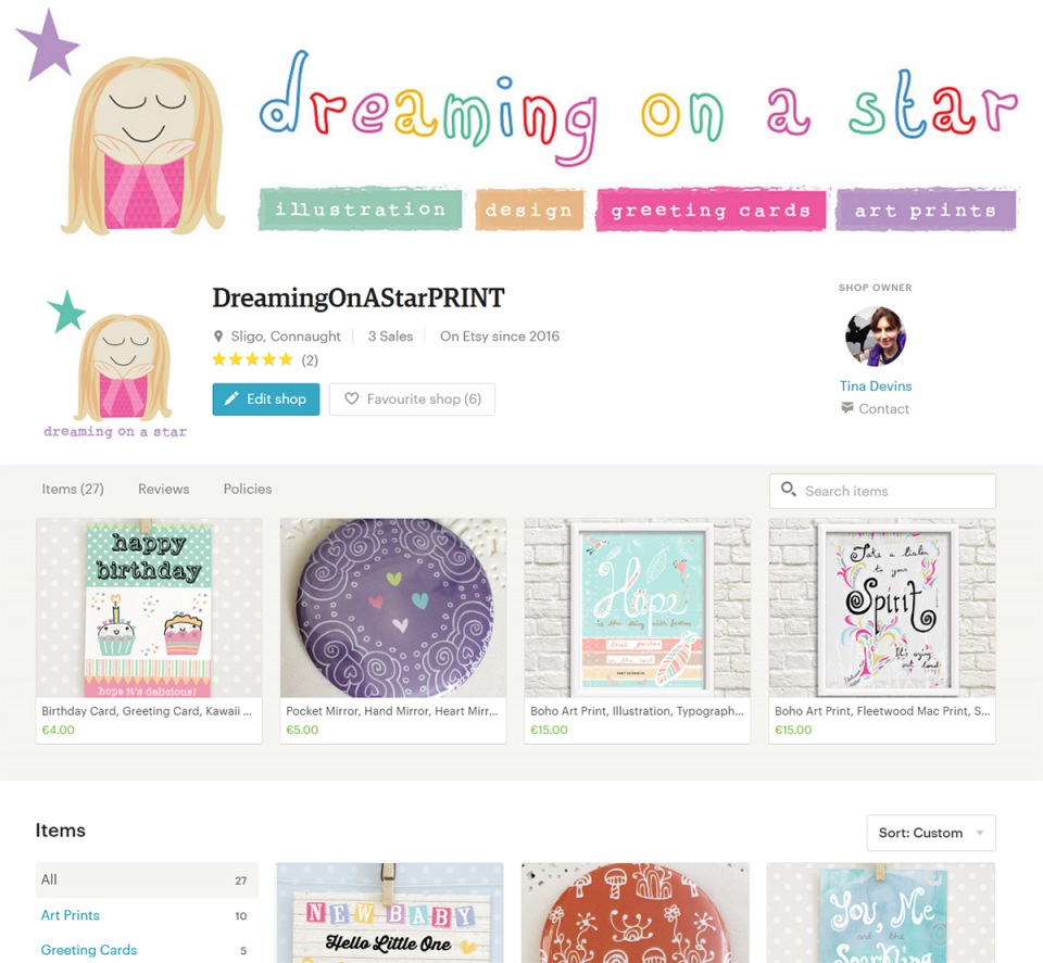 Dreaming on a Star's Etsy Print Shop