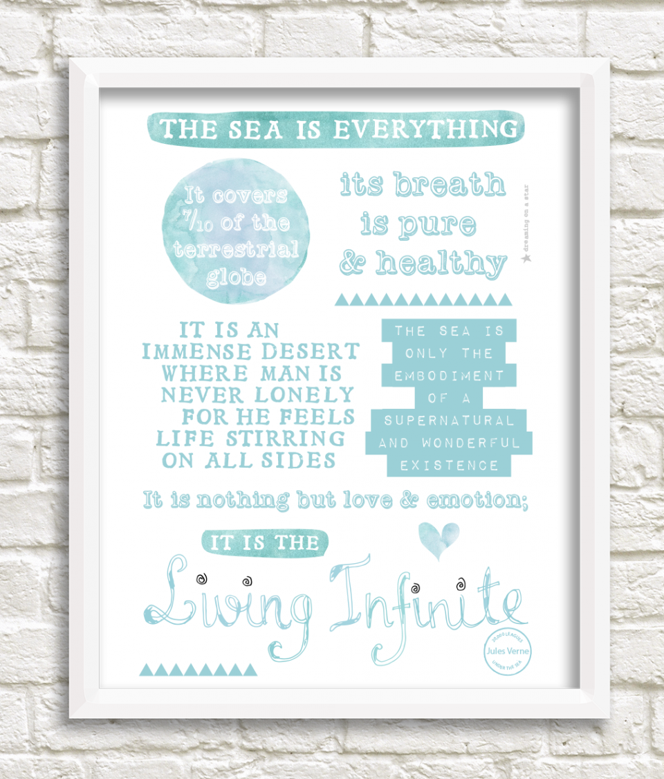 Jules Verne. Print by Dreaming on a Star