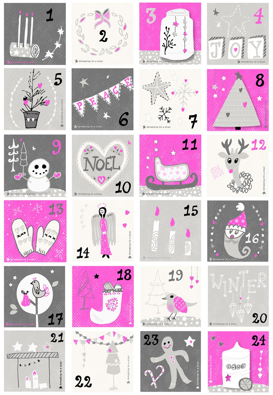 Advent Calendar by Dreaming on a Star - Christmas 2016